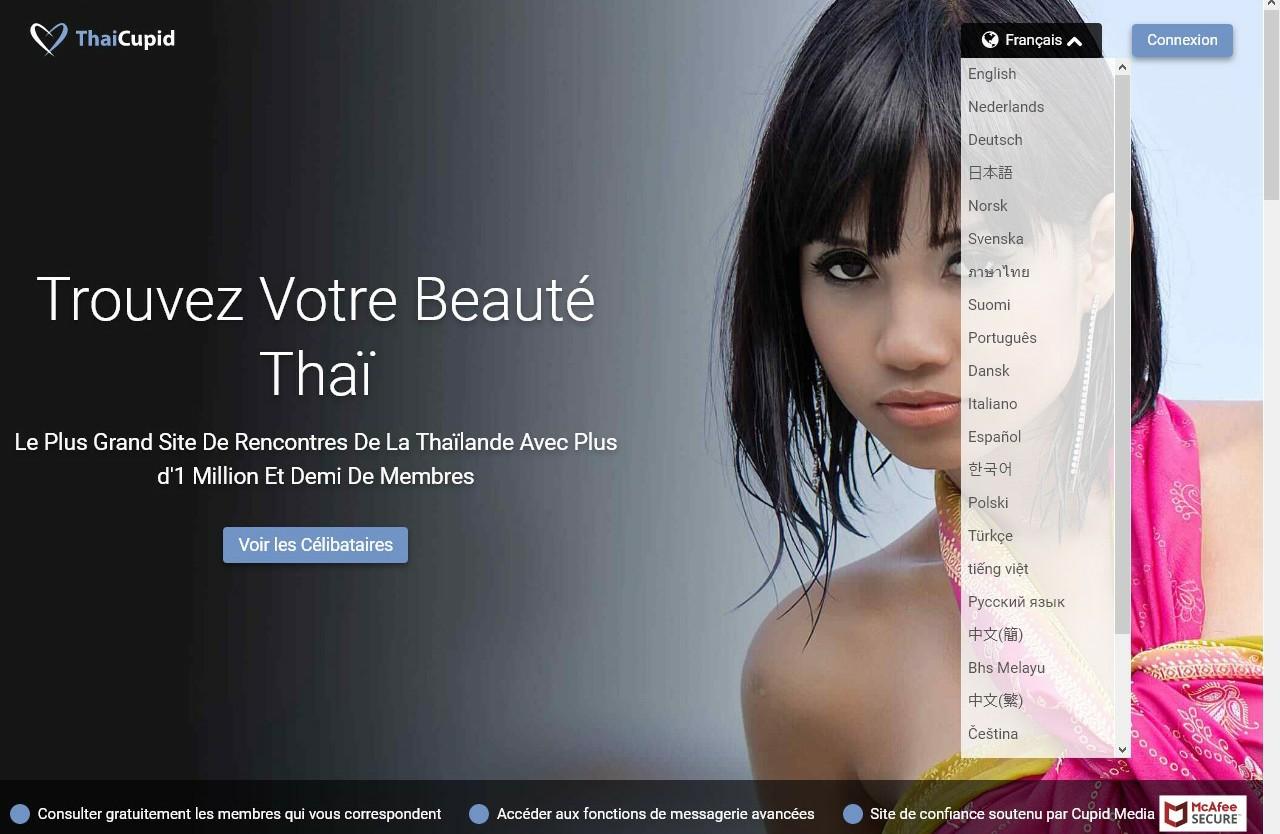 Page d'accueil Thai Cupid