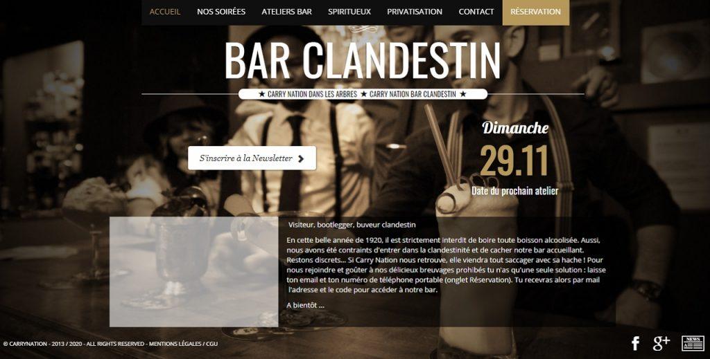 Carry Nation, un bar clandestin