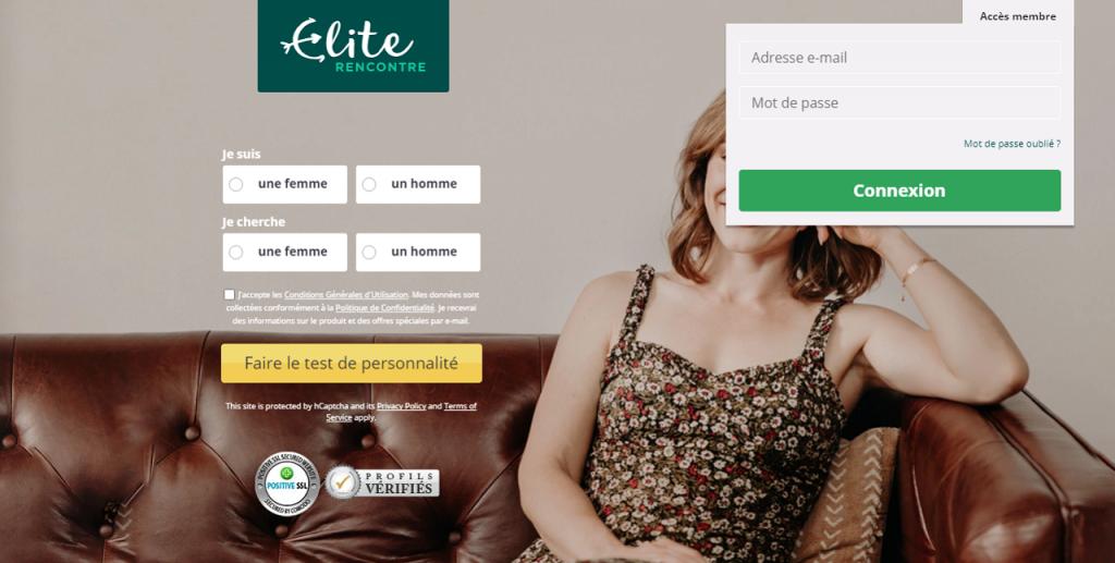 Page d'accueil Elite Rencontre